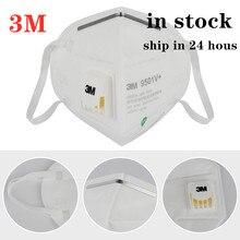 3pcs Original 3M 9501V+ KN95 Dustproof Anti-fog And Breathable Face Masks PM2.5 9501V+ N95 Mask 95% Filtration Fast Delivery
