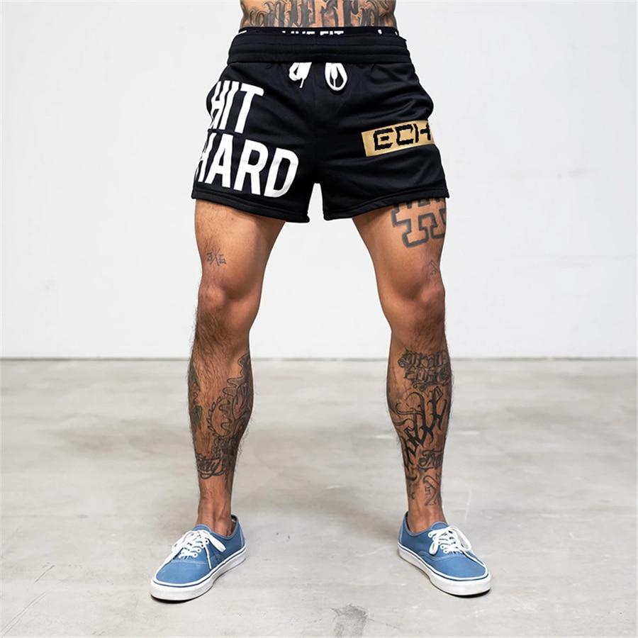 Top SaleMesh Shorts Jogger Exercise Fitness Men's Summer Men Brand Breathable Casual