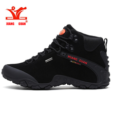 XIANG GUAN Men Hiking Shoes Waterproof Trekking Sneakers Middle Top Outdoor Sport Trainers цена и фото