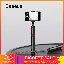 Baseus Tripod Camera Selfie-Stick Smart-Phone Huawei Bluetooth Remote Handheld Android