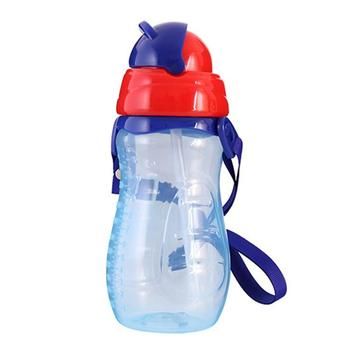 Infant Baby Learn Feeding Drinking Water Straw Bottle Food Grade PP Plastic Leakproof Baby Training Feeding Water Cup baby feeding water bottle portable no spill cup my plastic bottle children s small kettle with straw food grade slide cover copo