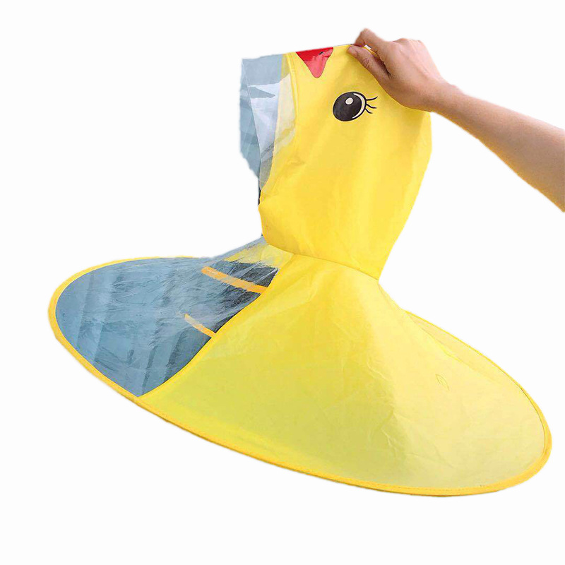 PPXX Yellow Duck Cartoon Children Raincoat Jacket Waterproof Outfit Rain Cover Baby Kids Poncho Cloak 4
