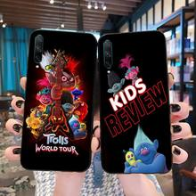 HPCHCJHM Trolls World Tour 2020 Cover Black Soft Shell Phone Case For Huawei Nova 6se 7 7pro 7se honor 7A 8A 7C Prime2019