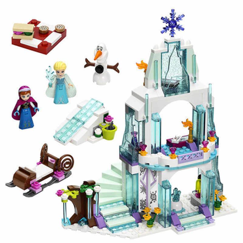 718 قطعة قلعة الثلج إلسا الأميرة آنا ارييل اللبنات بنات شخصيات حورية البحر الصغيرة اللعب الهدايا