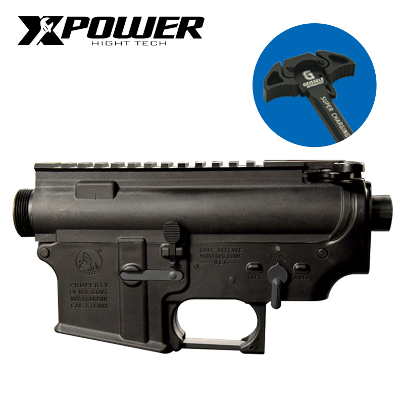 XPOWER Randolph Version Receiver Paintball Accessories Airsoft Metal Nylon MK16 CNC Handle