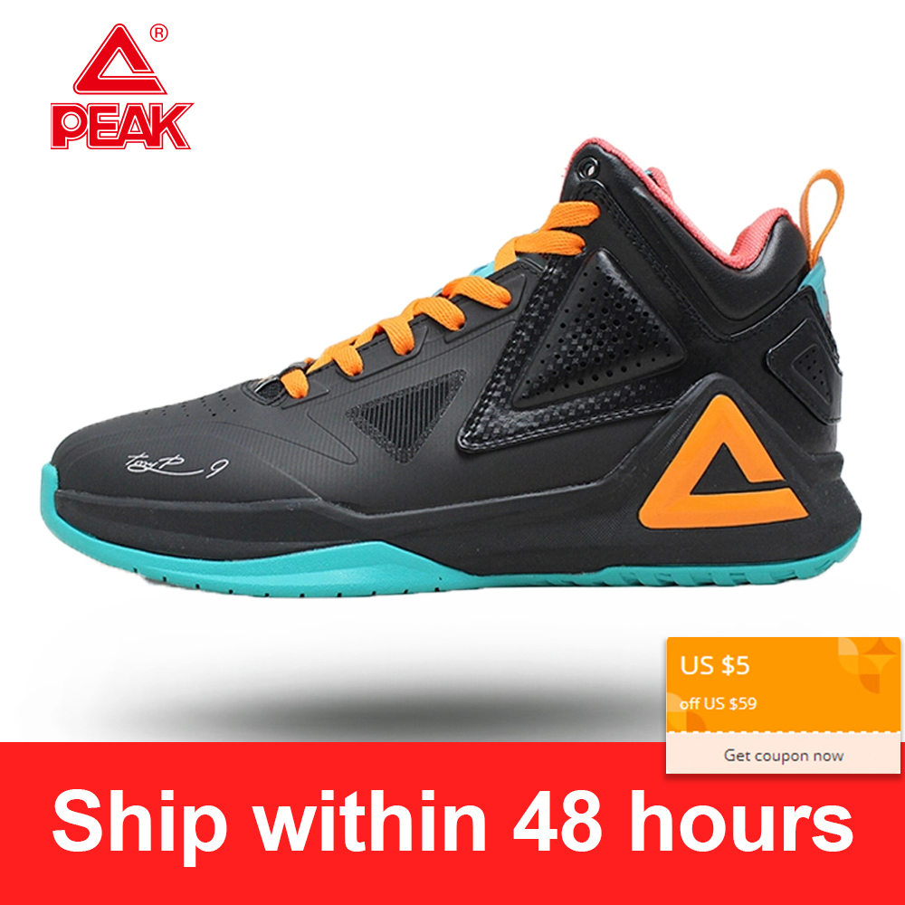 PEAK Basketball-Shoes Cushioning Non-Slip-Sneakers Breahtable Tony Parker Sport Flexible title=