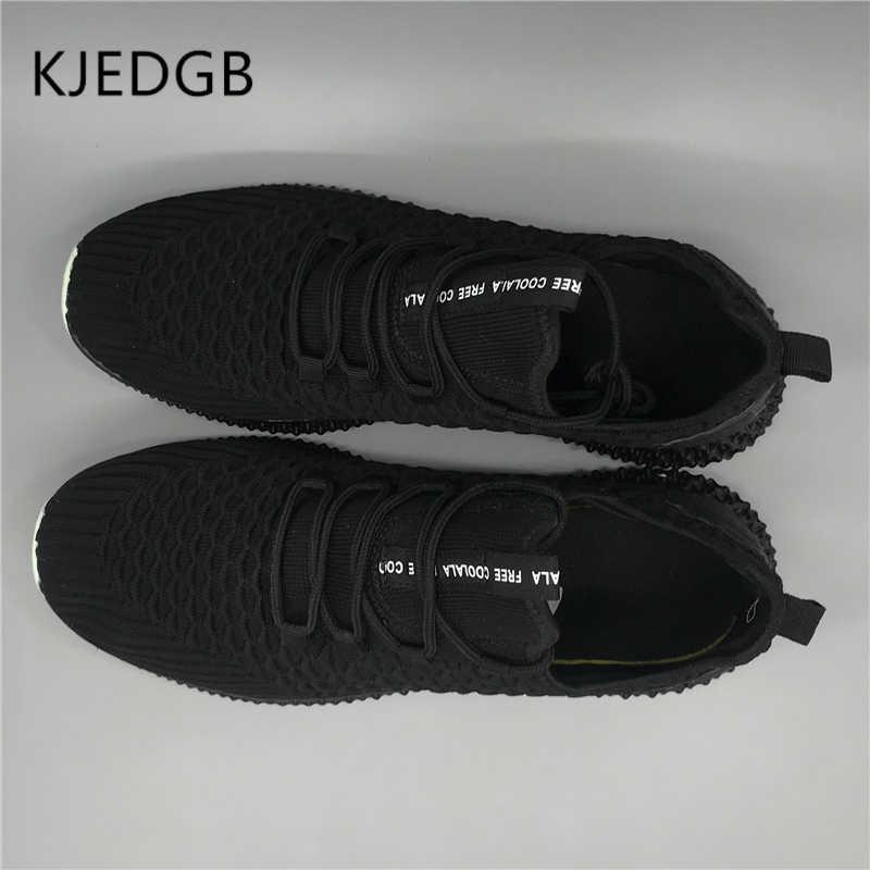 KJEDGB 2019 Nieuwe Heren Sneakers Mesh Lace-Up mannen Schoenen Ademend Platte Heren Outdoor Casual Schoenen Ultralight Designer mannen Schoenen