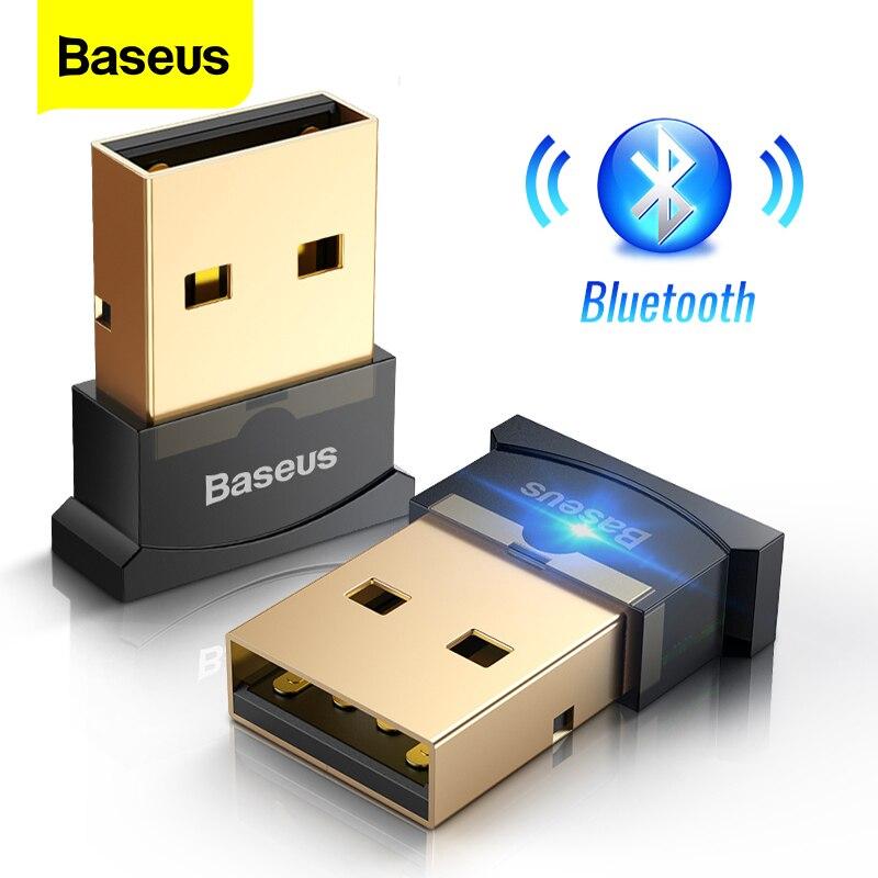 Baseus-adaptador Dongle USB Bluetooth 4,0 para tabletas, PC, ratón, teclados, Gamepads, impresoras, receptor y transmisor de auriculares Bluetooth