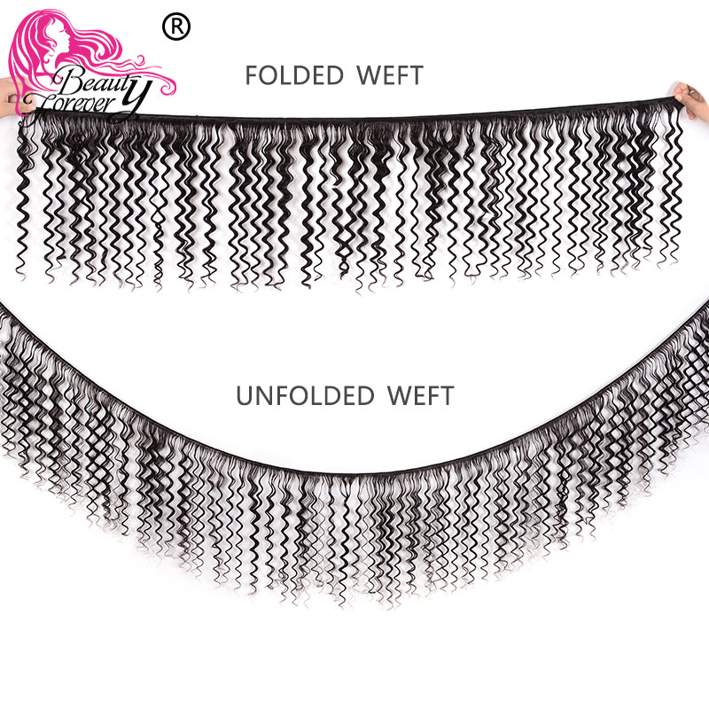Image 2 - Beauty forever малазийские волосы глубокая волна 3 пучка с кружевной фронтальной застежкой 13*4 свободная часть 100% волосы remy ткет-in 3/4 пучка на сетке from Пряди и парики для волос on AliExpress