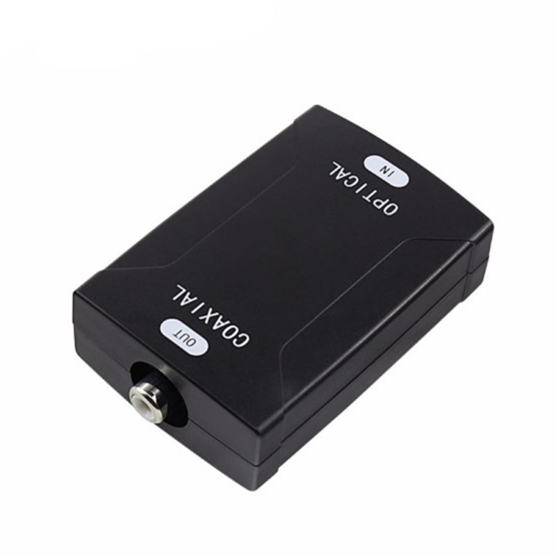 Hot Digital Coax Coaxial RCA To Optical TOSlink SPDIF Digital Audio Converter Adapter Support Dolby AC-3 Dolby 5.1 And DTS Sound