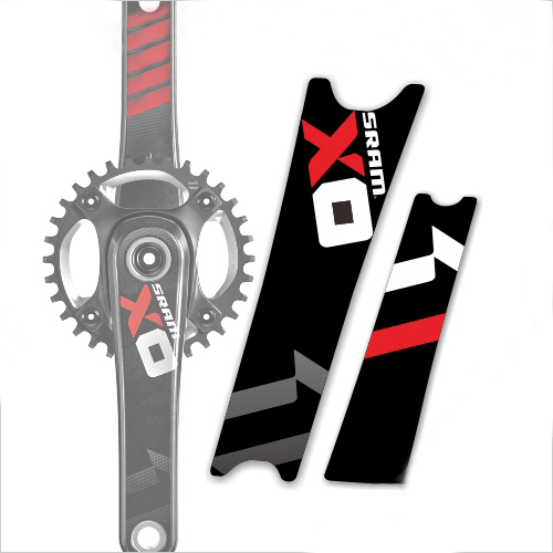 1 pair SRAM X0 crank sticker / mountain bike bicycle decal / road bike sticker / DH race bike decal free shipping
