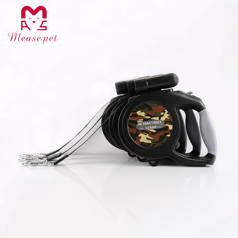 Pet Supplies Night LED Shining Pet Traction Rope Dog Automatic Flexible Tractor