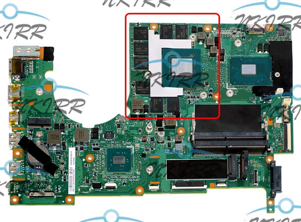 MU5DC/CH7DC REV:2.0 NBQ1711001 I7-6700HQ GTX1070 GTX1070M 8GB Motherboard For Acer Predator 17 G9-793 15 G9-593 N15P4