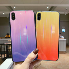 Laser Tempered Glass Phone Case For iphone 11 Pro Max Gradient Colorful Cases cover For iphone 6 6S 7 8 Plus X XR XS Max coque colorful gradient case for iphone 11 pro max x xs max xr 8 hd glass capa fundas for iphone 11 11pro 8 7 6 6s plus back cover