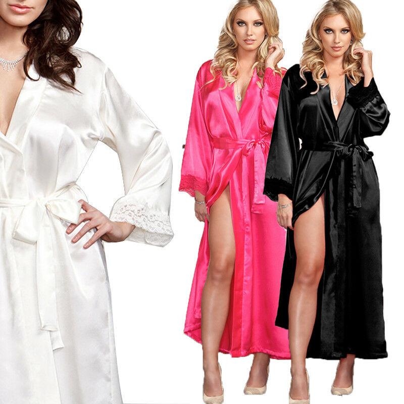 Gooheer Women Robes Sexy Lingerie Silk Lace Robe Dress Babydoll Nightdress Nightgown Sleepwear Dress in Dresses from Women 39 s Clothing