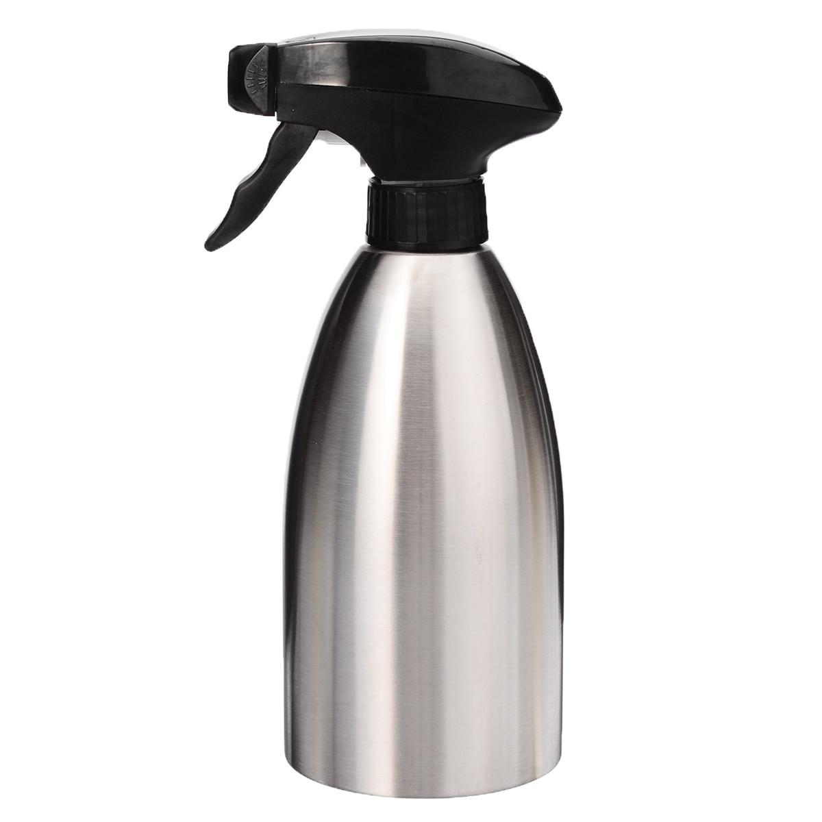 Stainless Steel Oil-Spray Bottle Kitchen Olive Oil Sprayer for BBQ Cooking 500ml