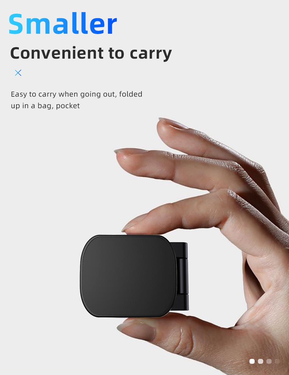 !ACCEZZ Car Magnetic Holder Phone Stand For 11 X Center Console Folding Adjustable Magnet Support Desktop Bracket (10)
