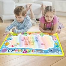 Coolplay مواضيع الحيوانات قوس قزح لوحة رسم المياه و 2 أقلام المياه خربش حصيرة تلوين الكتب المائية اللوحة البساط عيد الميلاد هدية للأطفال
