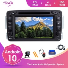 TOOPAI Android 10 For Mercedes Benz CLK W209 Vito W639 Viano A-W168 C-Class W203 C209 G-Class W463 Multimedia Player GPS