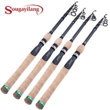 Sougayilang 1.8M-2.7M Protable Telescopic Fishing Rod Cork Handle Spinning Fishing Rod Carbon Fiber Travel Fishing Rod Tackle