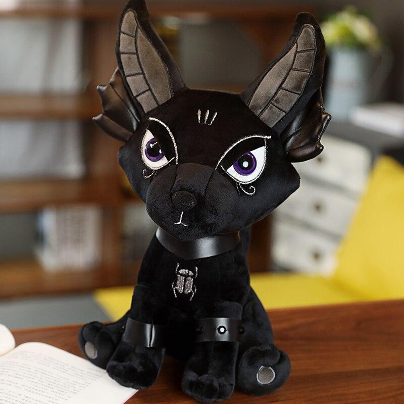Goth Black Animal Plush Toy Anubis Plush Toy Hydra KILLSTAR Devil Doll Plush Rabbit Black Elephant Myth Twitchy Toys Black Doll