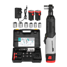 New Cordless Electric Ratchet Wrench 3/8inch 80N.M 240RPM 18V Power Ratchet Wrench Kit with 2 Pack Battery and a Charger