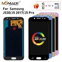 سوبر AMOLED شاشات lcd لسامسونج غالاكسي J5 2017 LCD تعمل باللمس J530 J530F لسامسونج J5 برو 2017 J530 بديل لشاشة العرض-في شاشات LCD للهاتف المحمول من الهواتف المحمولة ووسائل الاتصالات على