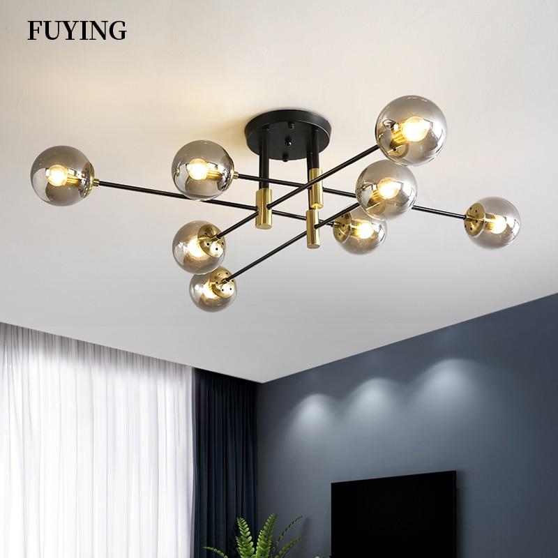 Modern Creative LED Chandelier 5 8 10 12 Lights E27 Round Ball Light Ceilling Lamps Living Room Kitchen Light Decor Indoor Light