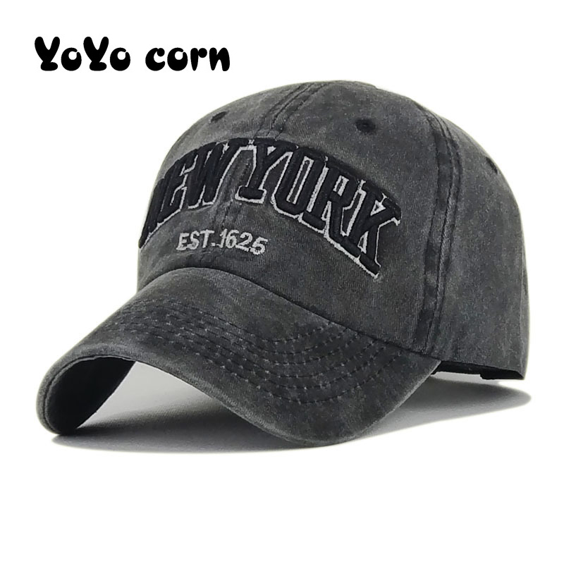 Wash Hat For Women Men Vintage Dad Hats NEW YORK Embroidery Letter Outdoor Sports Caps OZyc Sand Washed 100% Cotton Baseball Cap
