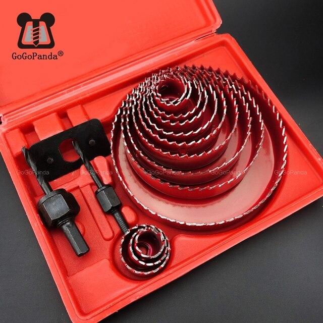 Ensemble de 13 cloches pour le perçage de trous, de 19 à 127mm, profondeur: 20mm, pour le perçage du PVC, du bois, des plaques de platre