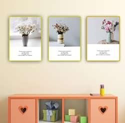 Современный минималистичный свежий кофе магазин Гостиная Спальня космическая декоративная живопись деликатное растение цветок вешается