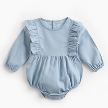 Baby Bodysuit Romper Long-Sleeve Girls Infants Winter New Cute Autumn Pure-Color
