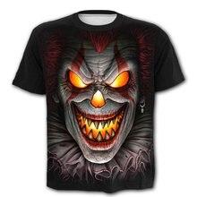Цельный Лидер продаж футболка оверсайз клоун Пламя Череп женщина