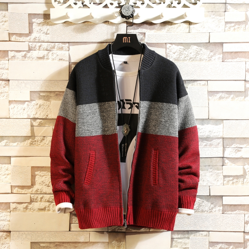 Solid Color New 2020 Thick Fashion Brand Sweater For Mens Cardigan Knitwear Warm Autumn Japan Design Clothes Plus Size M-3XL