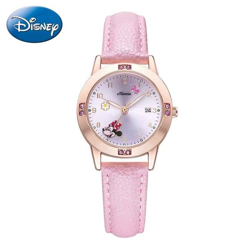 2020 милашки Минни мышь кварц часы для девочки молодой леди ремешок календарь наручные часы ребенок часы водонепроницаемый женщины час ребенок подарок
