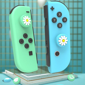 Image 2 - Animal Crossing Cat Paw Bear Leaf Flower Thumb Stick Grip Cap Joystick Cover For Nintend Switch NS Lite Joy con Controller Case