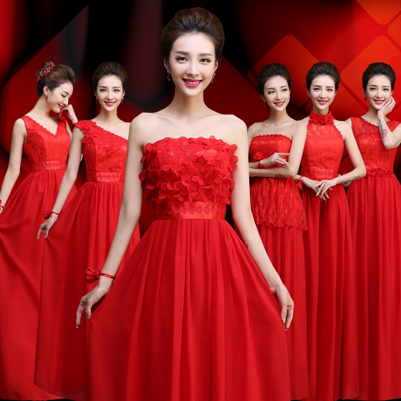 Long Chiffon Bridesmaid Dresses Vestido Azul Marino Wedding Guest Elegant Sexy Party Dress Prom Women Dress Red For Bridemaide