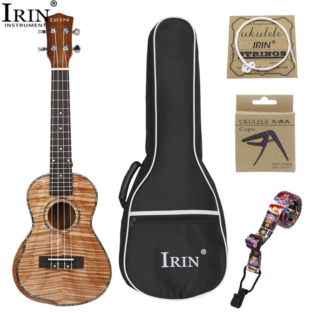 IRIN 23 pouces plein acajou ukulélé bras garde 4 cordes hawaïenne petite guitare Ukelele avec sac guitare pick-up cordes sangle