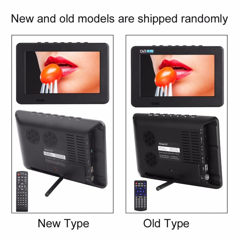 7 Inch DVB-T2 TV Digital HD TV 800x480 Analog Television Receiver support Memory Card USB DVB-T TV 22