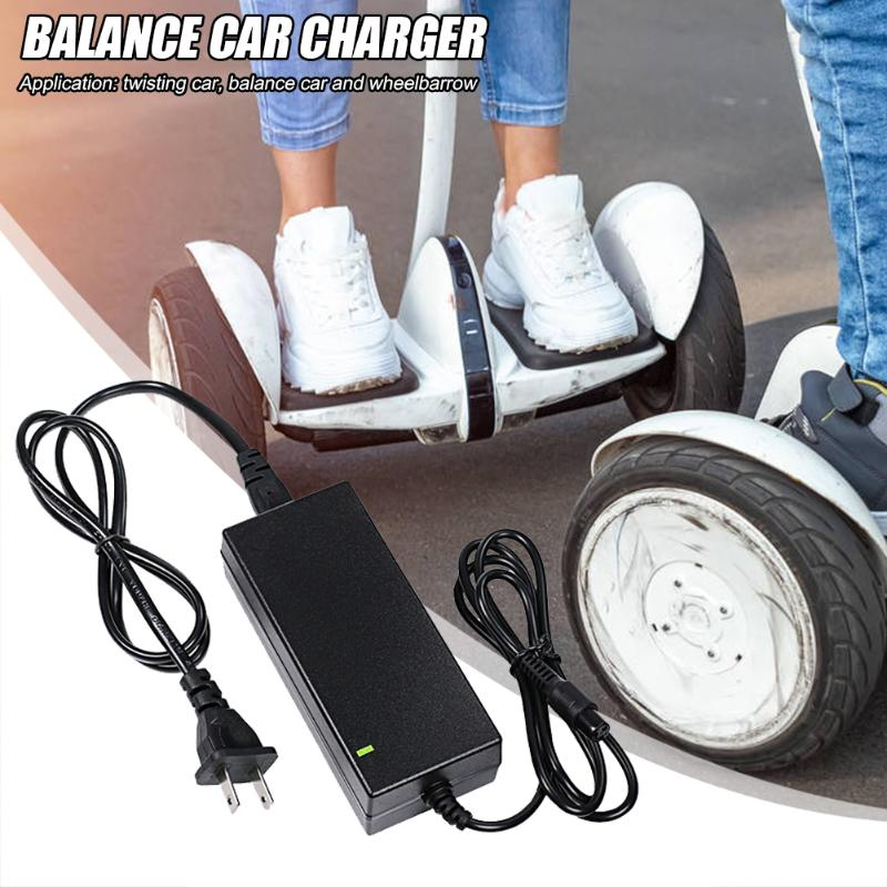 Walking Car Scooter Charger Exquisite Craftsmanship Sturdy Durable Wheelbarrow Balance Car Power Adapter 42V 2A US Plug