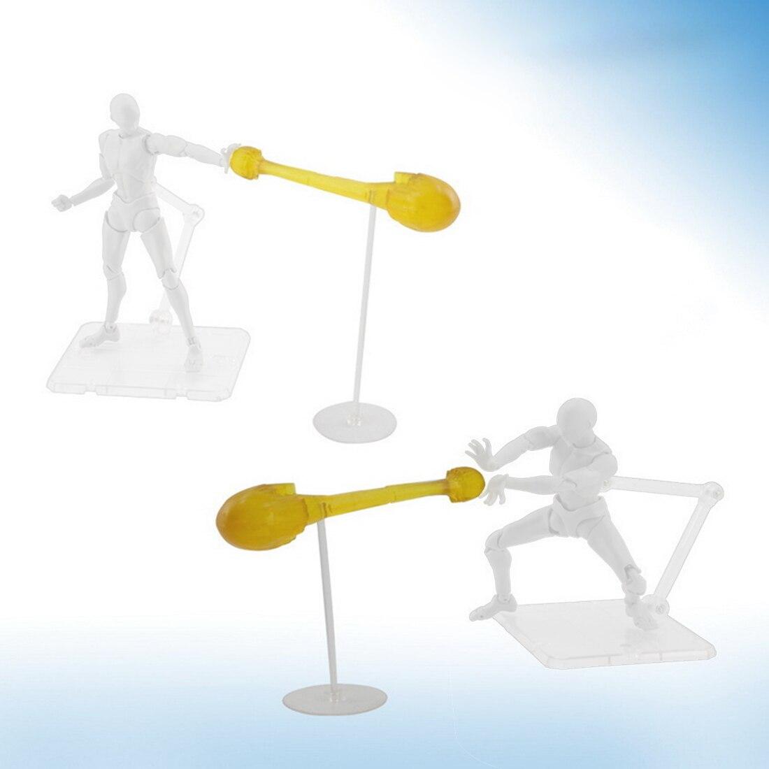 Шок декор с волной Твердые спецэффекты с держателем для модели-прозрачный/фиолетовый/синий/желтый