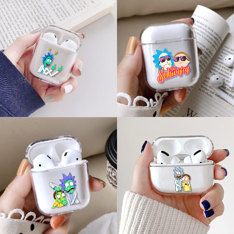 Rick And Morty Funny Cartoon Comic Meme Earphone Case For Apple iPhone Charging Box For AirPods Pro Hard Transparent Protective image
