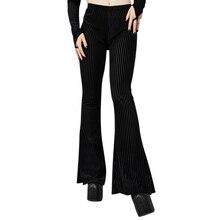 Ретро Высокая талия для похудения расклешенные брюки для женщин ins замша яма повседневные для девочек широкие брюки pantalon femme