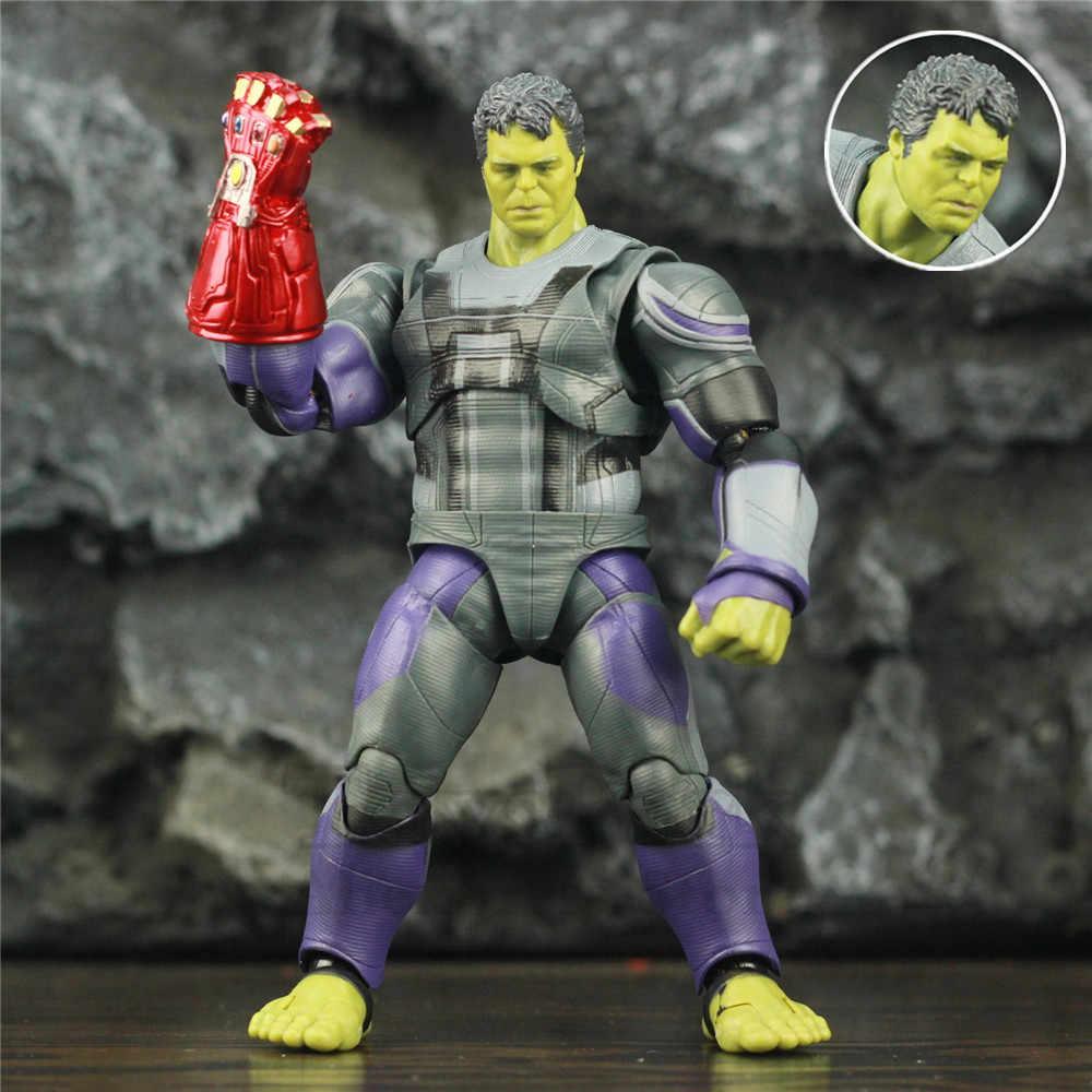 """Hulker 6 """"échelle figurine Avenger 4 Endgame quantique costume Robert Bruce bannière rouge gantelet KO's SHF légendes jouets poupée modèle"""