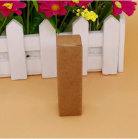 DHL 800Pcs 2*2*7cm Brown Kraft Paper Lipstick Perfume Cosmetic Nail Polish Gift Event Packaging Box Essential Oil Bottle Boxes