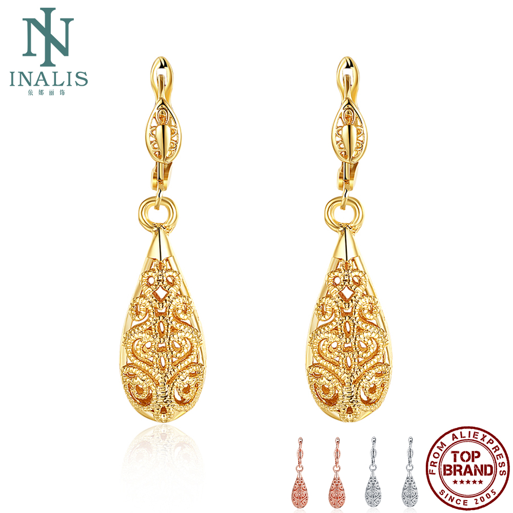 INALIS Statement Earrings For Women Elegant Delicate Water Drop Dangle Earrings 3 Colors Fashion Jewelry Anniversary Gifts
