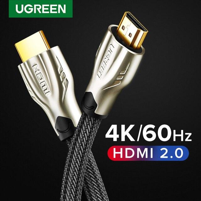 Ugreen hdmi cabo 4k/60hz hdmi divisor cabo para xiaomi mi caixa hdmi 2.0 cabo de áudio interruptor de cabo divisor para tv caixa ps4 hdmi cabo