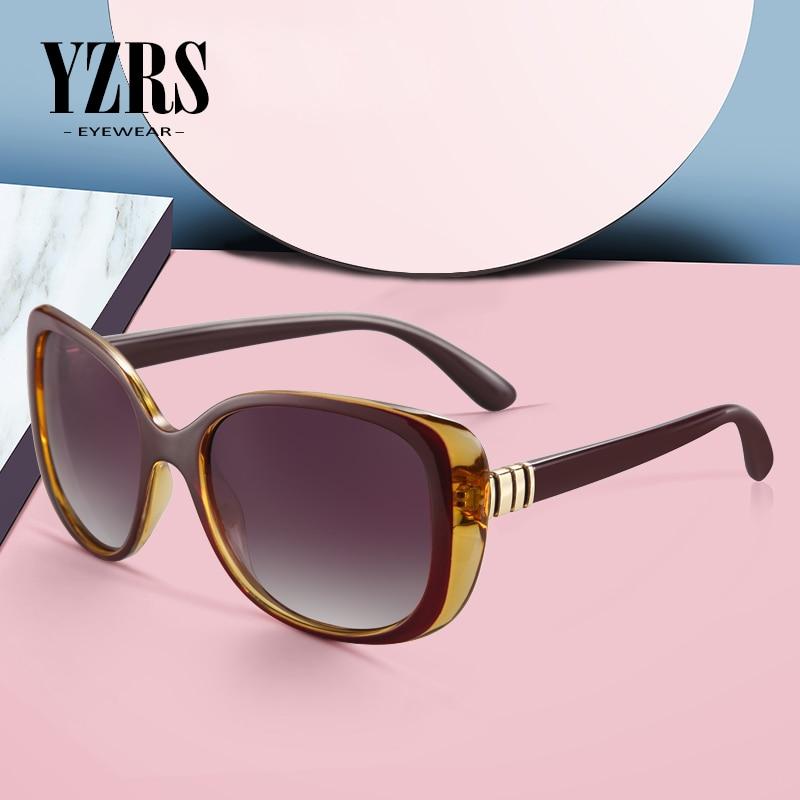 YZRS Brand Gradient Shade for Women Fashion Sunglasses Woman Vintage Retro Oculos Feminino Sexy