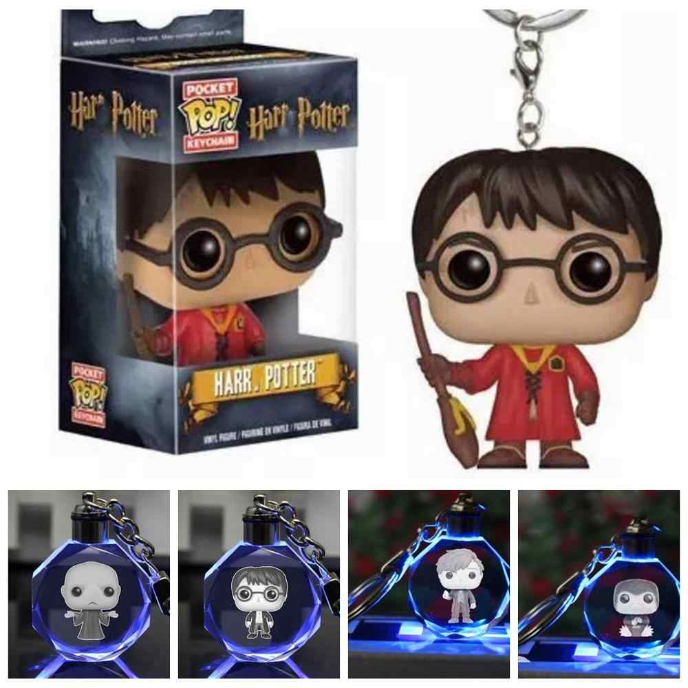 Hp 2019 potter hermione dobby voldemorts fantástico besta niffer newtt led lanterna chaveiro pingentes chaveiros carro figura brinquedos