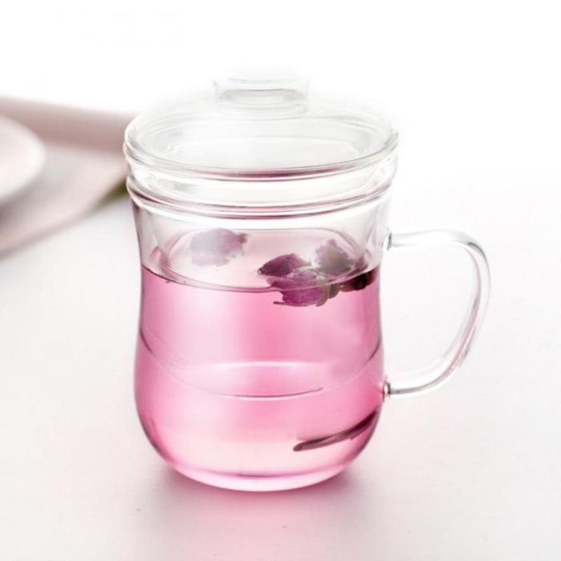 ABSS-прозрачная стеклянная кружка для молока, кофе, чая, чашка, чайник с фильтром для заварки чая и крышкой, посуда для напитков для дома и офиса